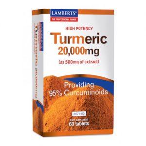 Curcuma 20.000 mg (turmeric) Lamberts 60tb