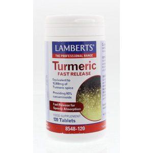 Curcuma fast release Lamberts 120tb