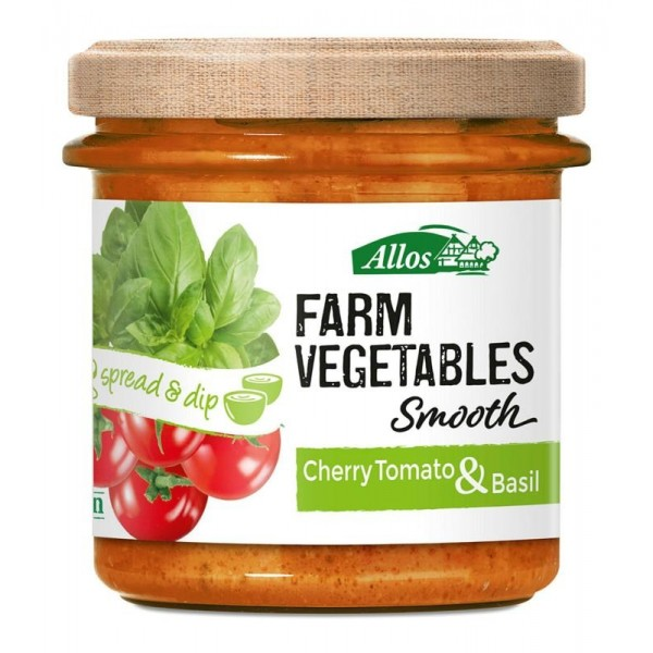 Farm vegetables smooth tomaat & basilicum