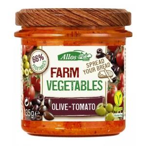 Farm vegetables tomaat & olijf