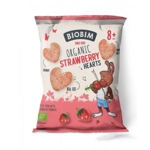 Strawberry hearts 8+ maanden Biobim 20g