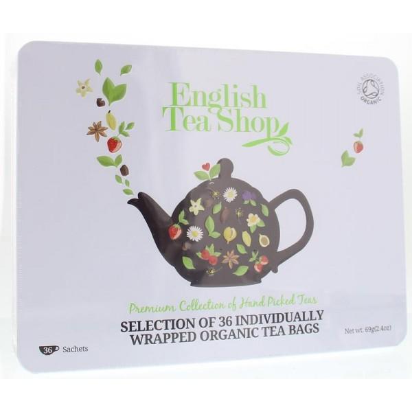 Cadeaublik premium 36 zakjes English Tea Shop 1st
