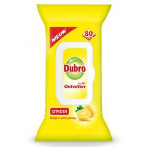 Doekjes multi ontvetter citroen Dubro 80st