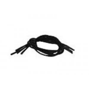Schoenveters elastic zwart Essentials 4st