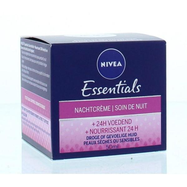Essentials nachtcreme voedend Nivea 50ml