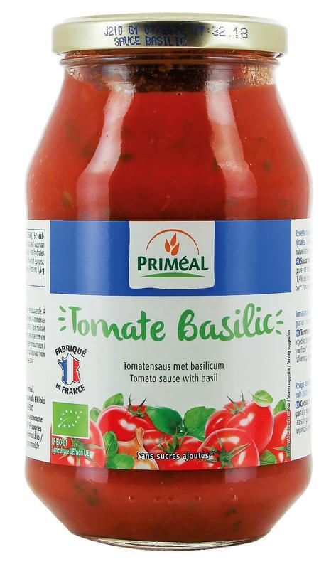 Tomaat basilicum saus Primeal 510g