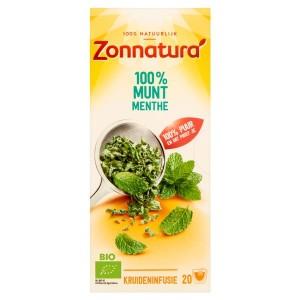 Munt thee 100% bio Zonnatura 20st