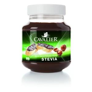Chocoladepasta hazelnoot gezoet met stevia Cavalier 380g