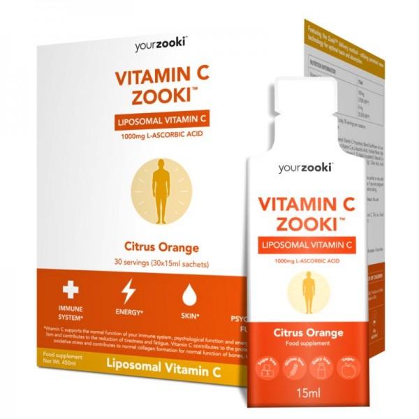 Vitamine C liposomaal Yourzooki 30sach