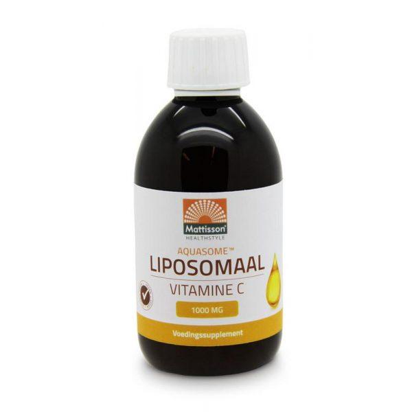Vloeibaar Liposomaal Vitamine C heeft een hoge biologische beschikbaarheid door inkapseling van het actieve ingrediënt in liposomen. Met natuurlijke citrus-smaak. Vitamine C zit in fruit en groente. - Vitamine C is belangrijk voor een goede weerstand. Samenstelling per 5 ml (1 theelepel) RI* Vitamine C 1000 mg 1250% *RI = Referentie Inname Ingredienten Gezuiverd water, Vitamine C (Natriumascorbaat), fosfatidylcholine (zonnebloem Lecithin), natuurlijke Citrus-smaak, zoetmiddel: met stevioglycosiden uit stevia, erythritol, appelzuur, verdikkingsmiddel:xanthangom, Kaliumsorbaat, Menthol. Gebruik 1 maal daags 2 theelepels innemen (eventueel met water) Koel, droog en afgesloten bewaren. Fabrikant Mattisson BV Middenweg 16 3401 MB IJsselstein Dit product is een voedingssupplement. Aanbevolen dosering niet overschrijden. Een gevarieerde, evenwichtige voeding en een gezonde levensstijl zijn belangrijk. Een voedingssupplement is geen vervanging van een gevarieerde voeding. Buiten bereik van jonge kinderen houden.