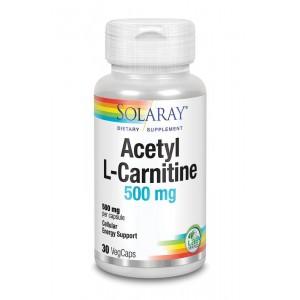 Acetyl L-carnitine 500 mg Solaray 30vc