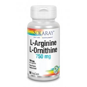 L-Arginine L-Ornithine 750 mg Solaray 50vc