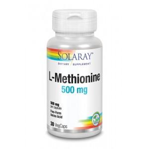 L-Methionine 500 mg Solaray 30vc