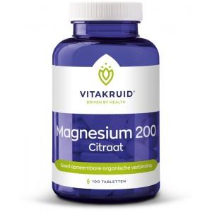 Magnesium 200 citraat Vitakruid 100tb