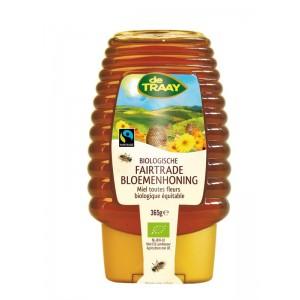 Bloemenhoning knijpfles Fairtrade Traay 365g