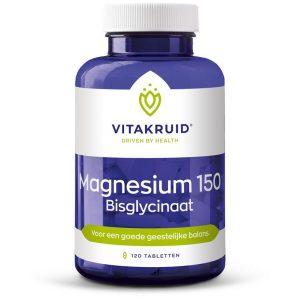 Magnesium 150 Bisglycinaat Vitakruid 120tab