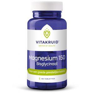 Magnesium 150 Bisglycinaat Vitakruid 60tab
