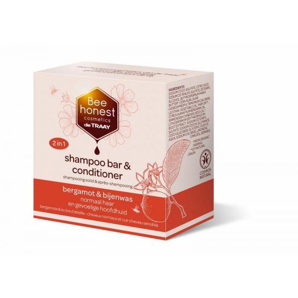 Shampoobar Traay Bee Honest Bergamot & Bijenwas
