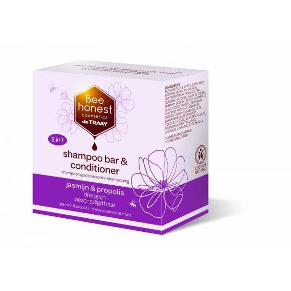 Shampoobar jasmijn & propolis Traay Bee Honest 80g