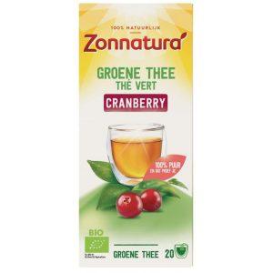 Groene thee cranberry Zonnatura