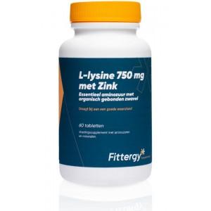 L-Lysine 750 mg met zink Fittergy 60tb